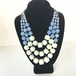 Charming Charlie 3 strand necklace blue/green